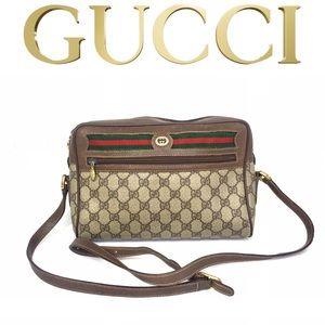 Authentic Gucci brown monogram crossbody bag